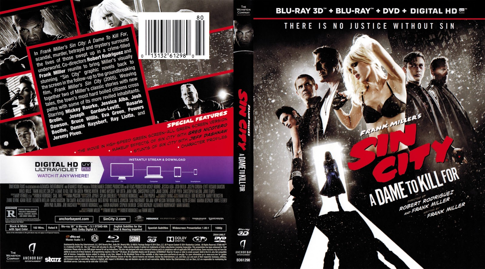 Capa Bluray Sin City A Dame To Kill For