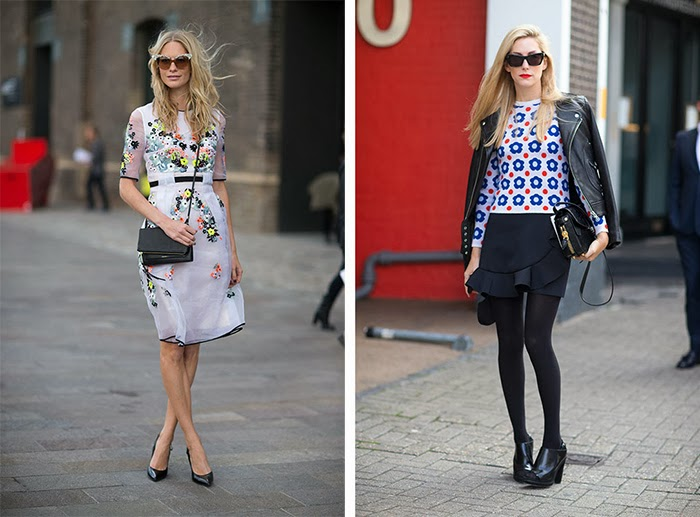 street style fashion week spring 2014, floral, prints,