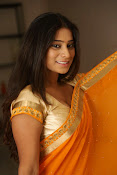Midhuna New photo session in Saree-thumbnail-19