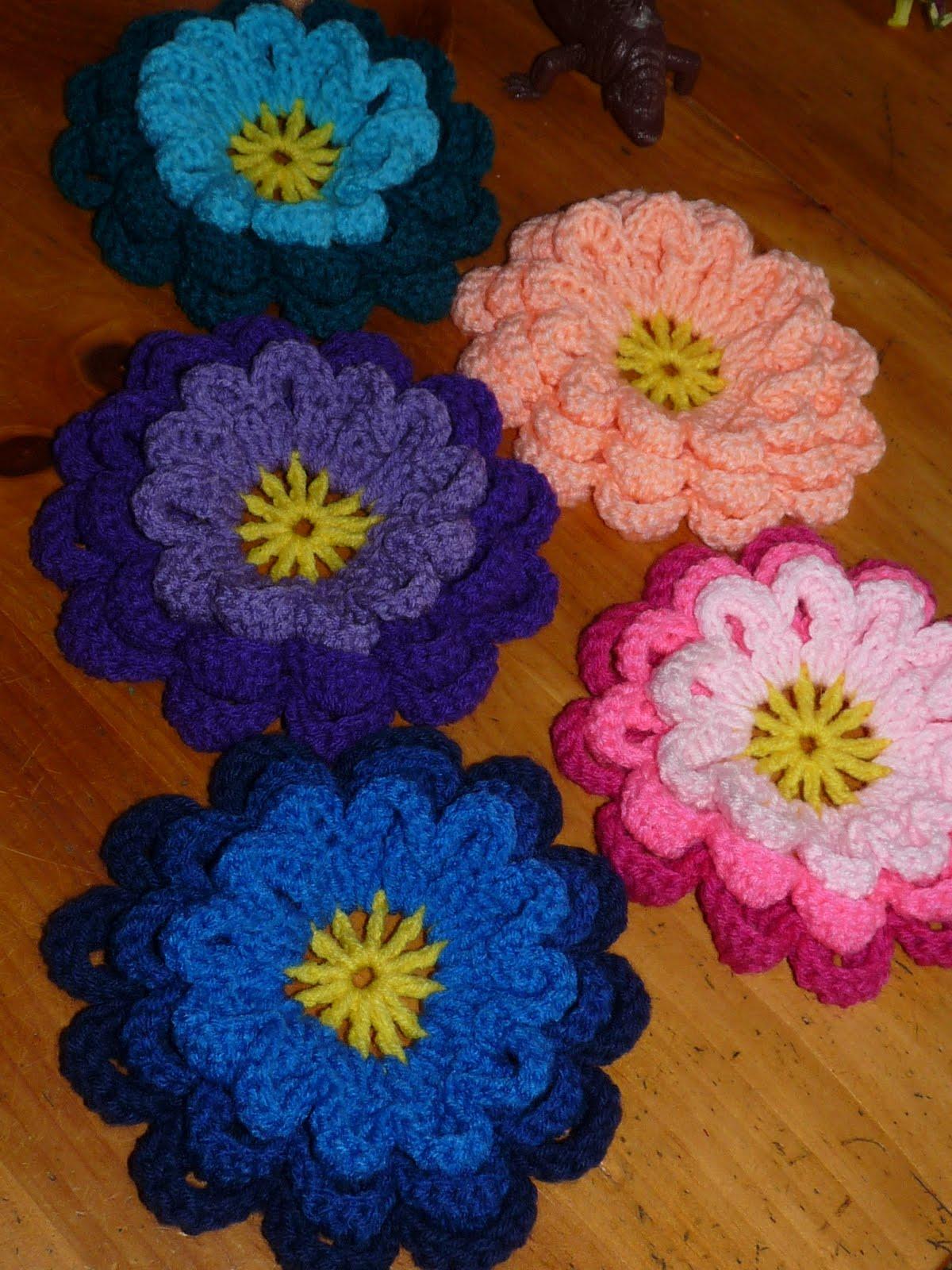 Nancys crochet 3 d flowers 3 d flowers izmirmasajfo Image collections