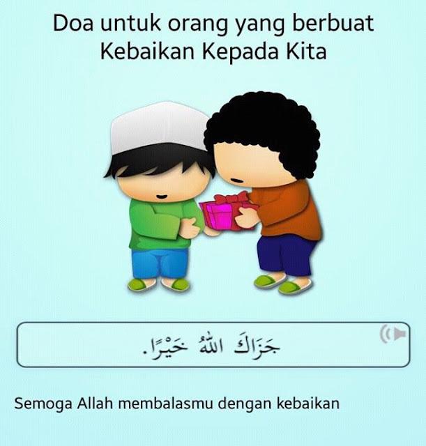 Doa untuk orang yang berbuat kebaikan kepada kita
