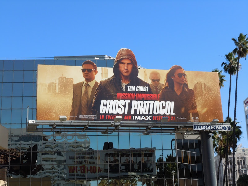 Ghost Protocol movie billboard