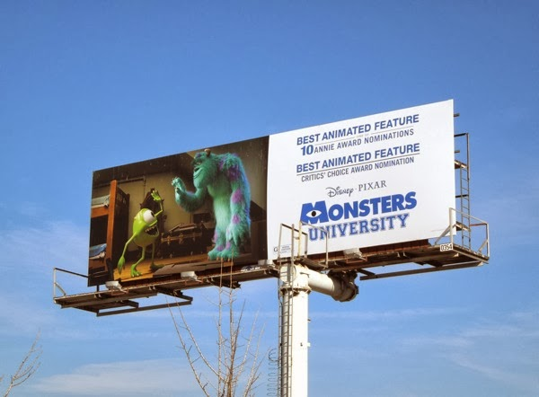 Monsters University awards nomination billboard