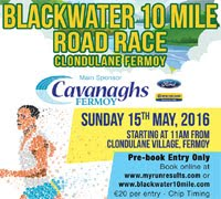 Blackwater 10 mile in NE Cork...Sun 15th May 2016
