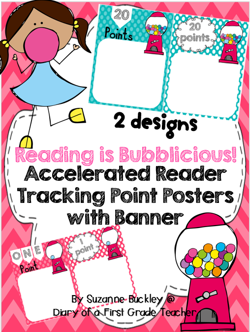 http://www.teacherspayteachers.com/Product/Accelerated-Reader-Tracking-Point-Posters-with-Banner-Reading-is-Bubblicious-1399541