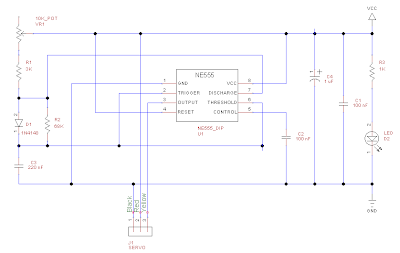 555 based servo tester schematic