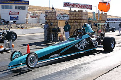 Blue Race Dragster