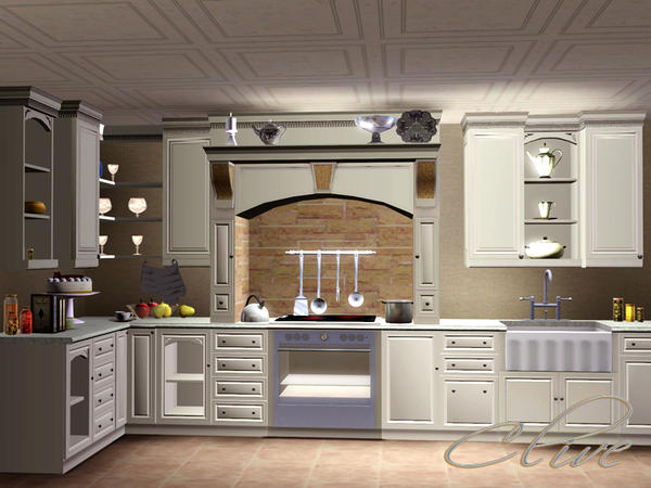 My sims 3 blog shino kcr 39 s clive kitchen for Cc kitchen cabinets