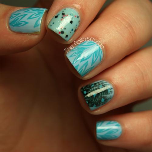 Raindrop Blue Me Away - The Nailasaurus | UK Nail Art Blog