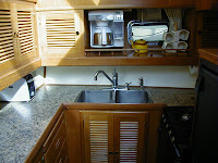 Enjoy the galley kitchen aboard the Third Swan