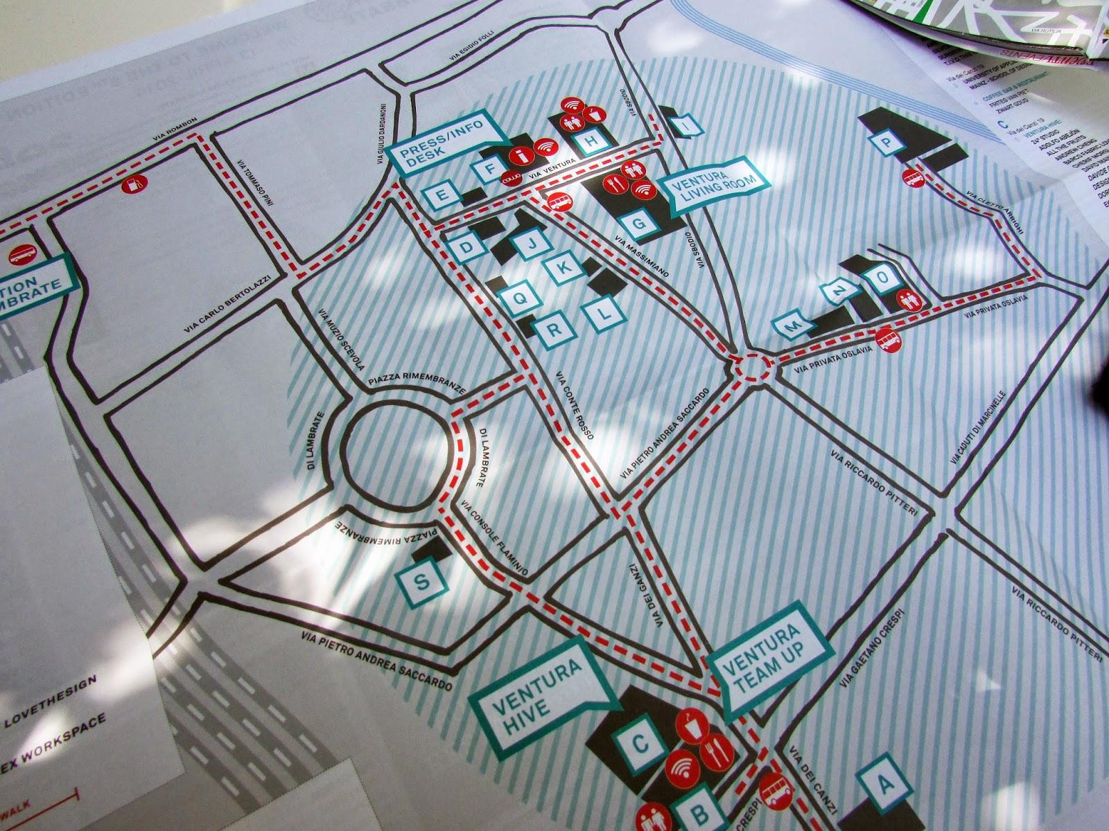 Mapa Ventura Lambrate