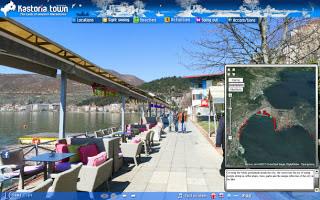 Καστοριά πανοραμική απεικόνιση 360 μοιρών