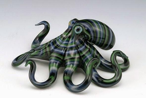 Scott Bisson esculturas de vidro soprado animais coloridos