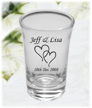 wedding by designs bridal personalized shot glasses
