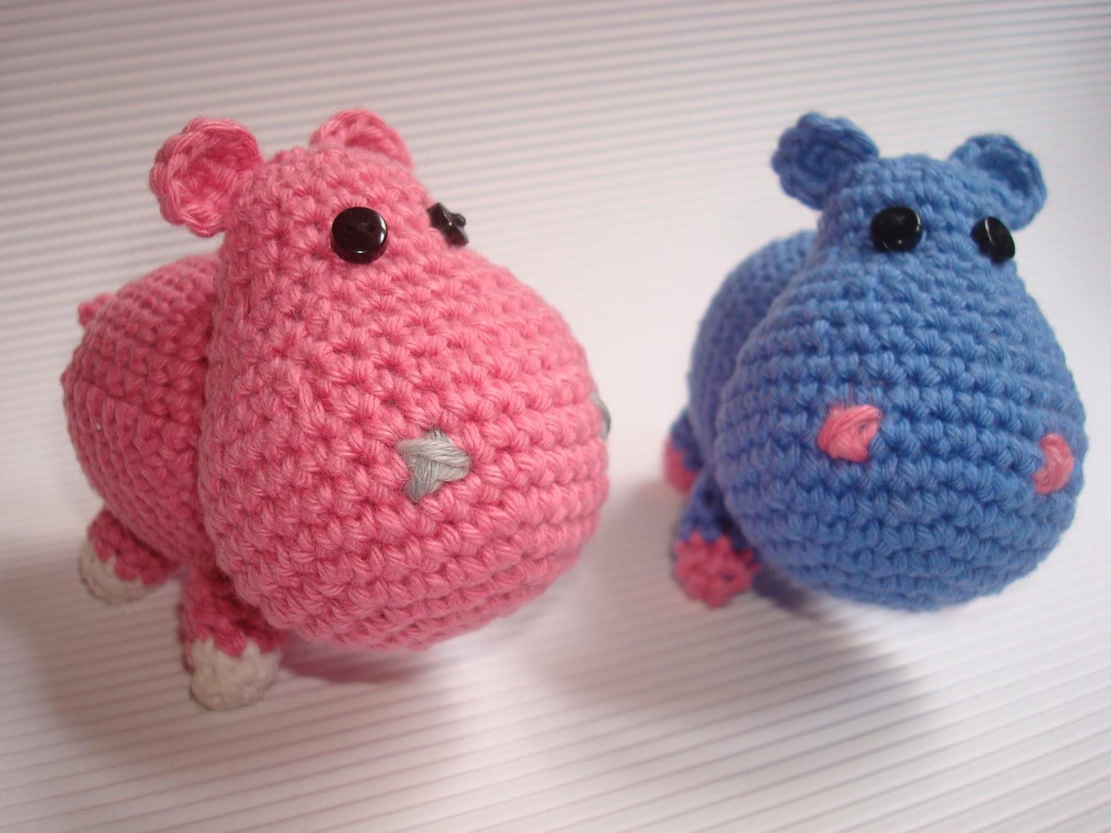 Pareja de Hipopótamos   Migote Amigurumi - Galeria