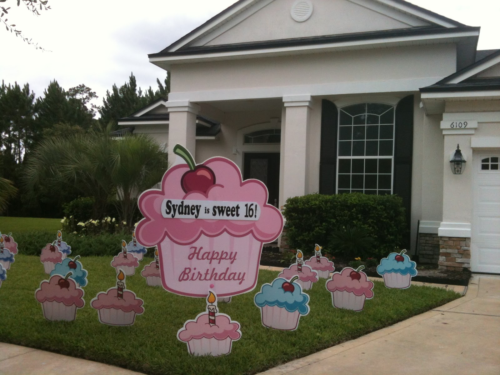Big Yard Card In Jacksonville Delivers A Cupcake That Never Gets Old Wish Your SWEET 16 Happy Birthday From BIG YARD CARD