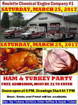 3-25 Roulette VFD Ham & Turkey Party