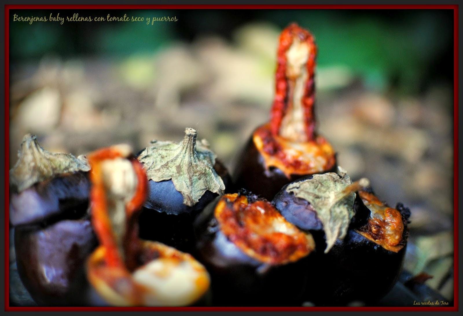 Berenjenas baby rellenas con tomate seco y puerros 01