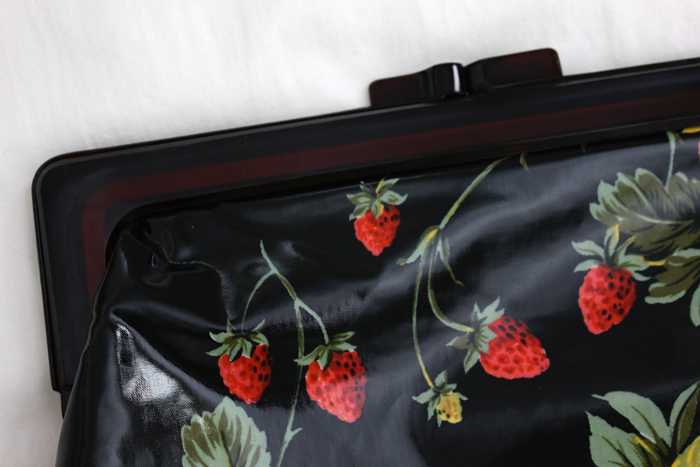 vintage fruit print bag sneak peek