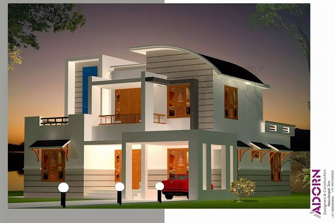 2300 SQFT Mixed Roof Double Storied House