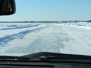 Image of an iced road