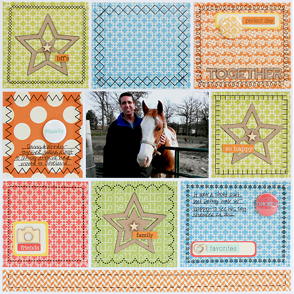 SRM Stickers Sticker Stitches Together Layout by Juliana Michaels