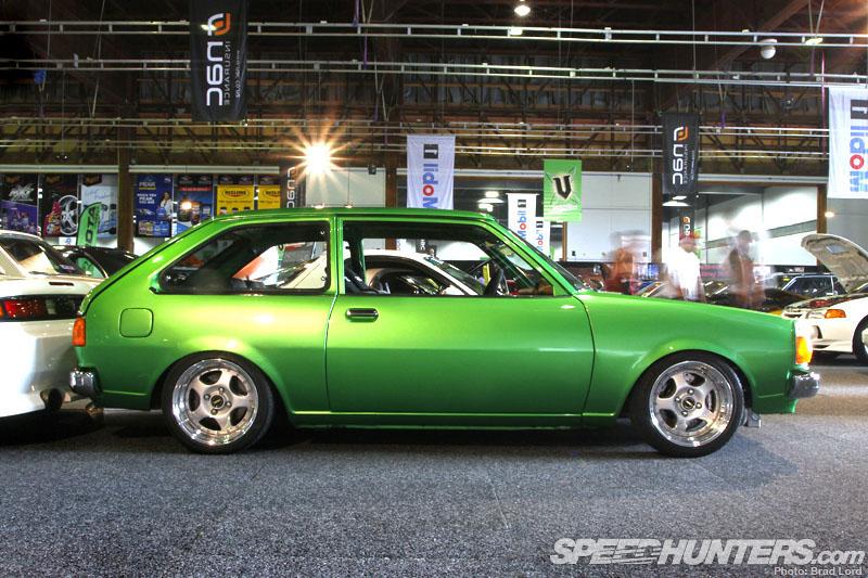 Mazda GLC, 323, Familia, mały samochód, napęd na tył, zielony, klasyczny, oldschool, nostalgic, photos, zdjęcia, jdm