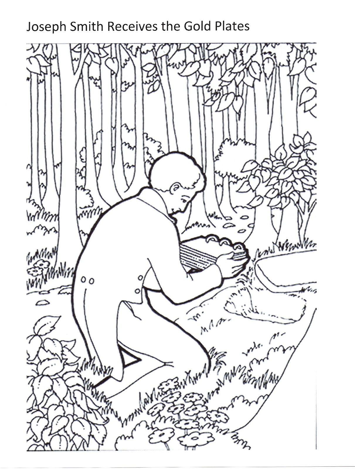 Mormon golden plates coloring pages