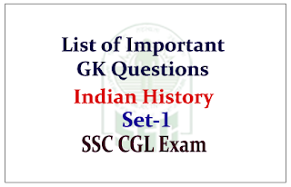 List of Important GK Questions about Indian History