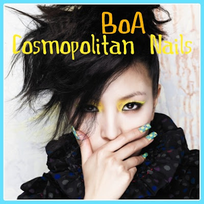 Celeb Nails | BoA's nails in Cosmopolitan