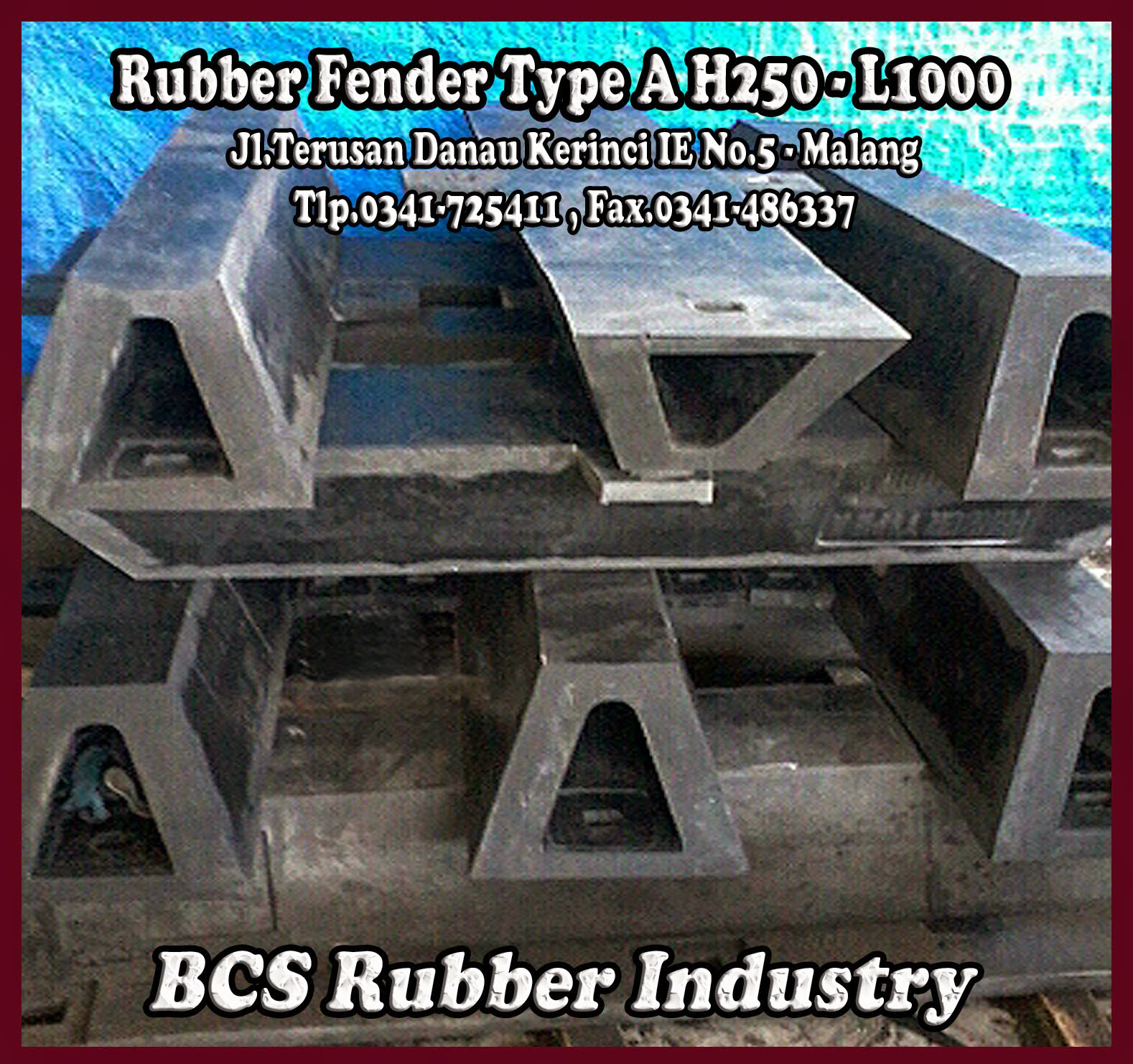 RUBBER FENDER TYPE A – BOTTOM STEEL PLATE :