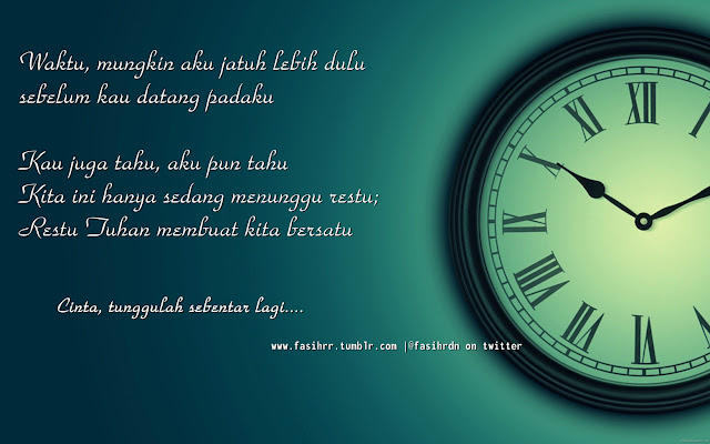 Cinta, Tunggulah Sebentar Lagi