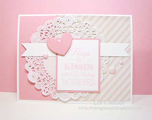 Hugs and Kisses birthday card-designed by Lori Tecler/Inking Aloud-stamps and dies from Clear and Simple Stamps