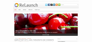 Relaunch Blogger Template Is a Wp To Blogger Converted Blogger Template