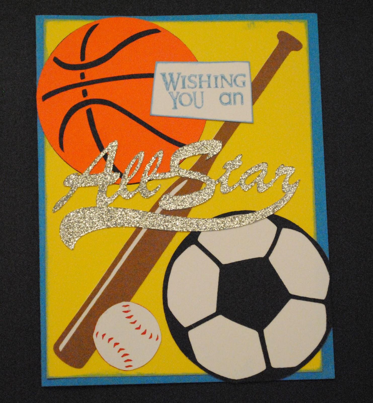 Printable Birthday Cards 14 Year Old Boy K E Kreations Sports Theme Card