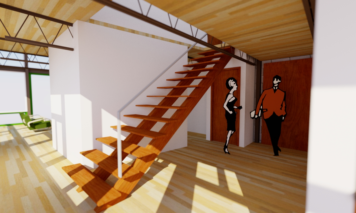 Modern Entry Foyer : Modern house plans by gregory la vardera architect: 0357 steel case