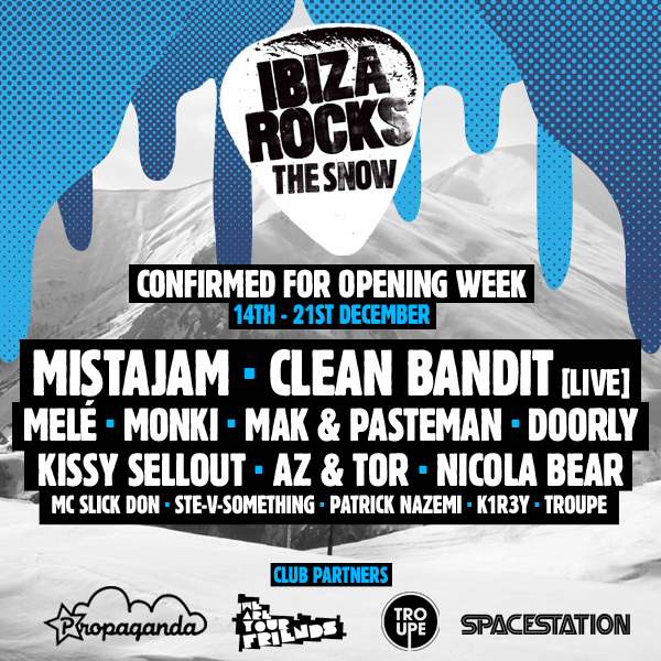 Ibiza Rocks the Snow- Week 1 lineup revealed