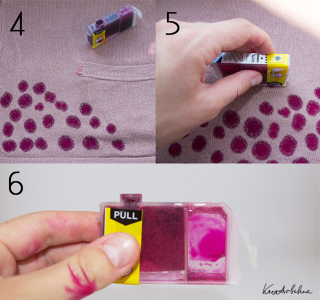DIY Sweater upcyceln Tinte