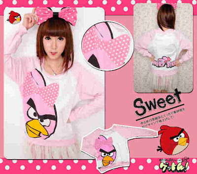 Sweater Angrybird Hoodie Angry Birds A206 Sweater Angry Bird Ribbon