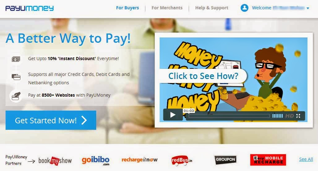 10 % instant discount at Redbus, Goibibo, Groupon