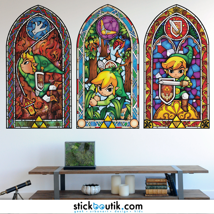 Stickboutik stickers muraux in dits design geek kids for Chambre zelda