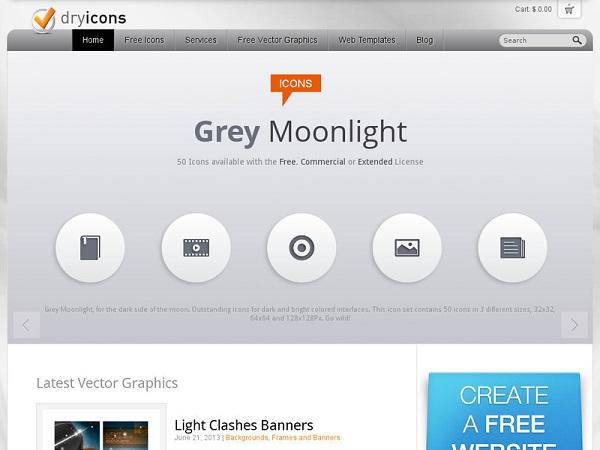 Situs Penyedia Icon Gratis Dry Icons