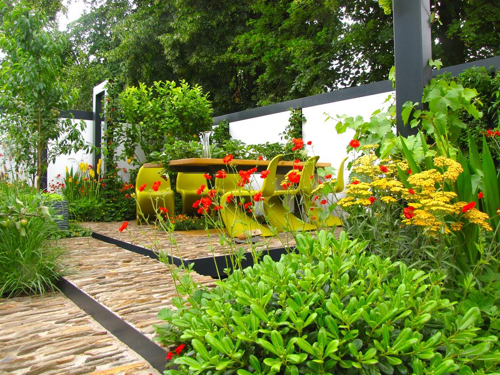imagens jardins modernosestilo de jardín colonial,mediterráneo