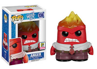 "San Diego Comic-Con 2015 Exclusive Inside Out ""Flamehead"" Anger Pop! Disney/Pixar Vinyl Figure by Funko"