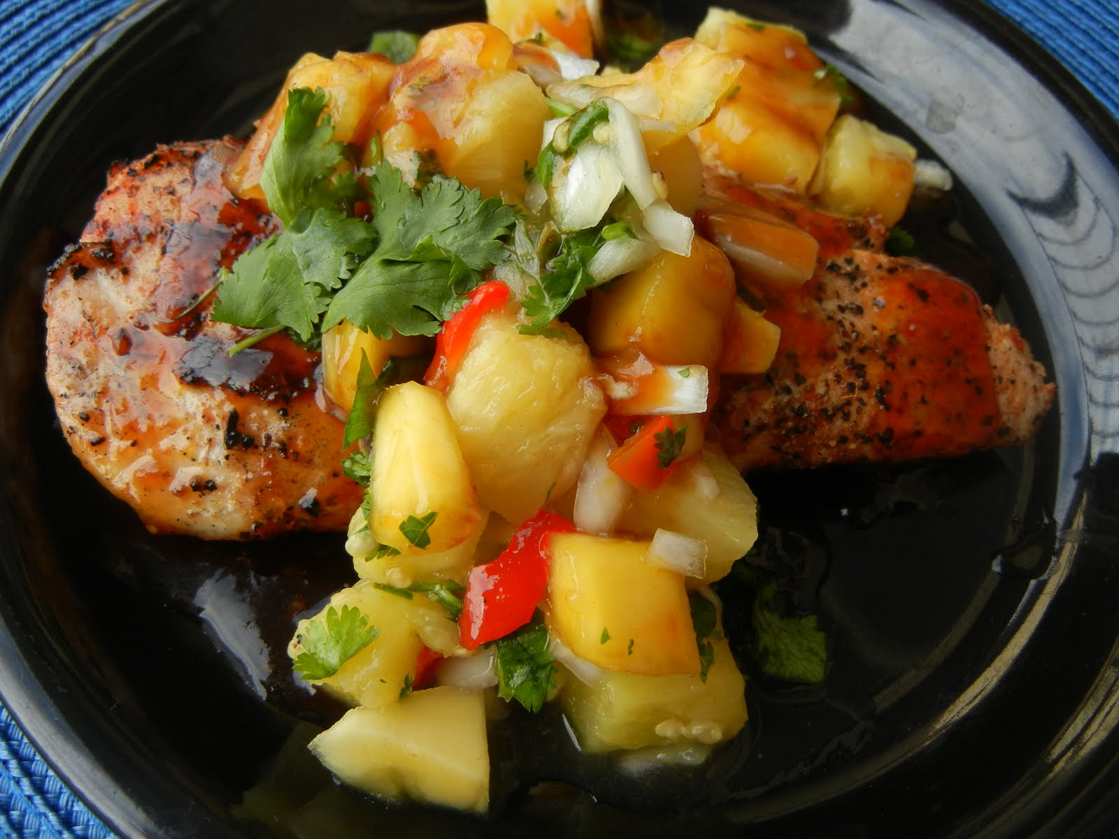 Grilled Lime And Chile Chicken With Mango And Red Bell Pepper Salsa ...