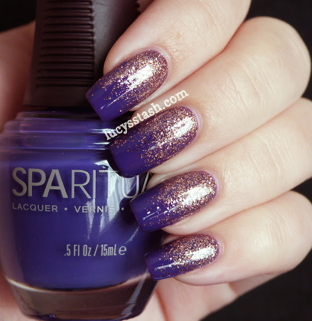 SpaRitual 3/4 Gradient manicure with Illume, Knowledge and Clarity ...