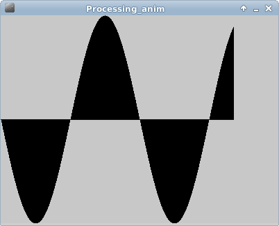 Processing example: simple animation of sin()