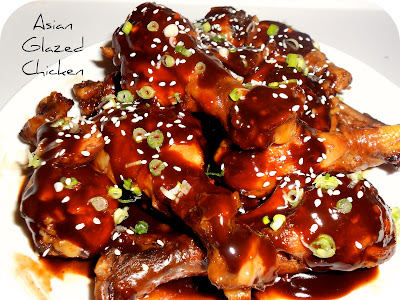 Healthy Asian-Glazed Chicken Drumsticks | Six Sisters' Stuff