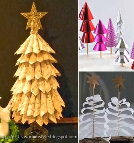 Коледна украса от хартия