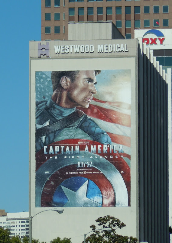 Giant Captain America movie billboard